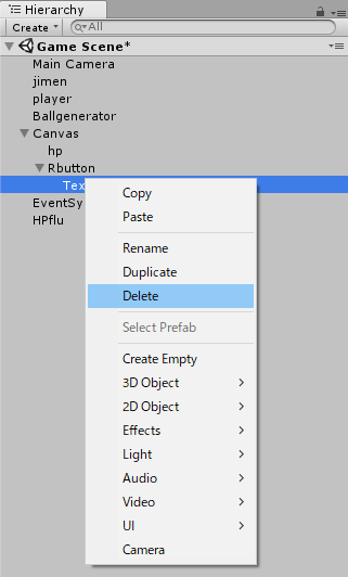 ボタンのテキストを削除する方法
