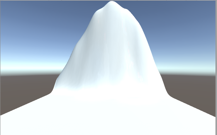 Terrainで山の形を表現
