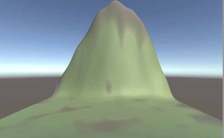 Terrainで作成した山にテクスチャを設定する