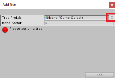 Terrainに木を生やす方法